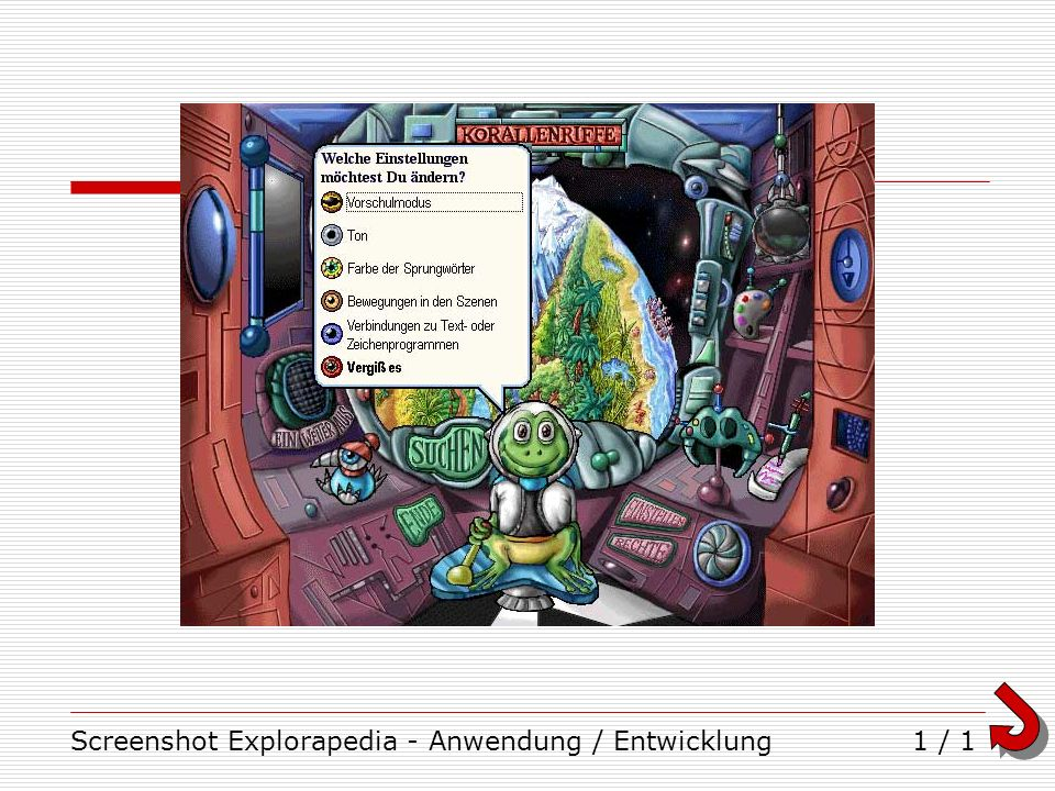 Screenshot Explorapedia - Anwendung / Entwicklung1 / 1