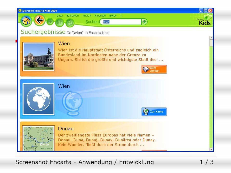 Screenshot Encarta - Anwendung / Entwicklung1 / 3