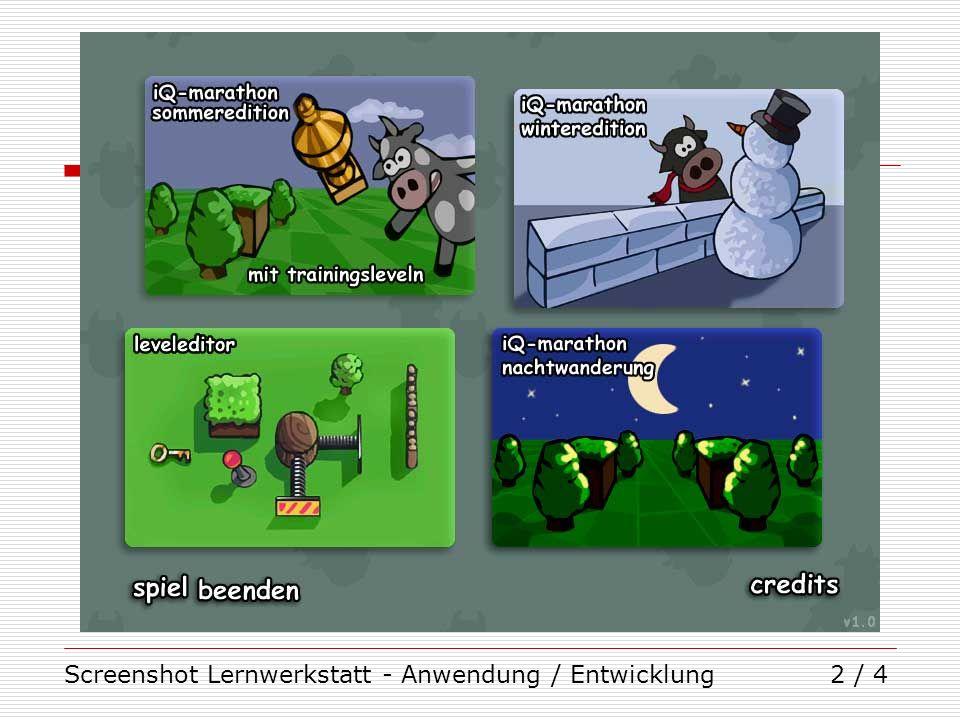 Screenshot Lernwerkstatt - Anwendung / Entwicklung2 / 4