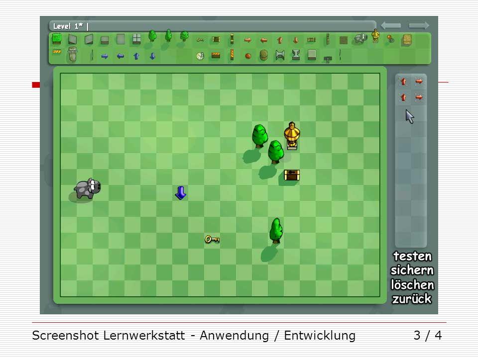 Screenshot Lernwerkstatt - Anwendung / Entwicklung3 / 4