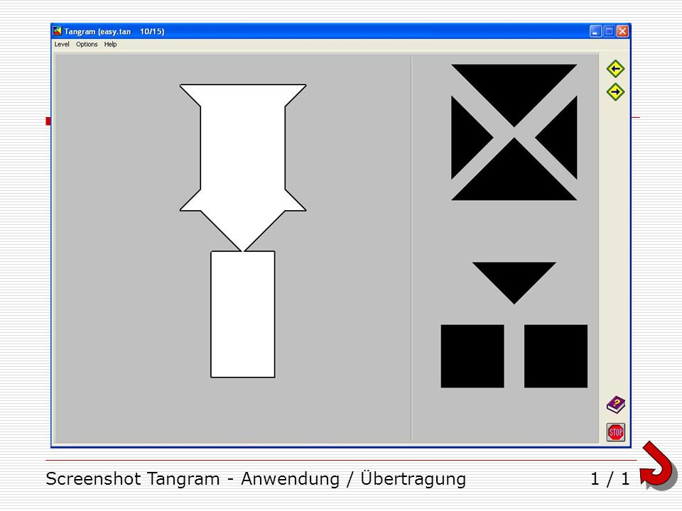 Screenshot Tangram - Anwendung / Übertragung1 / 1