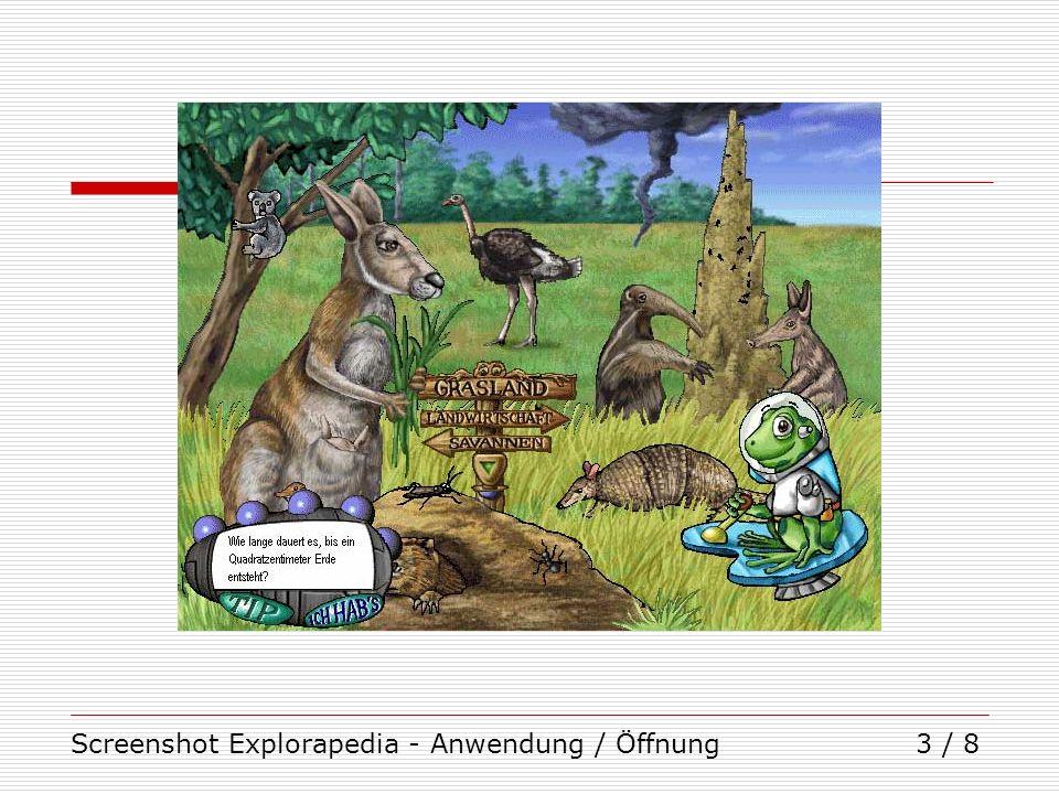 Screenshot Explorapedia - Anwendung / Öffnung3 / 8