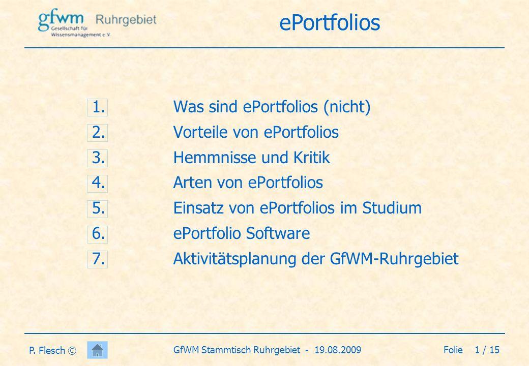 Folie 2 / 15GfWM Stammtisch Ruhrgebiet - 19.08.2009 P.