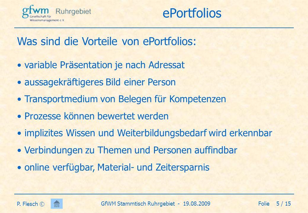 Folie 6 / 15GfWM Stammtisch Ruhrgebiet - 19.08.2009 P.
