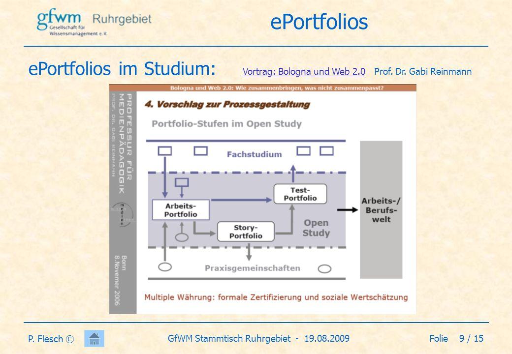 Folie 10 / 15GfWM Stammtisch Ruhrgebiet - 19.08.2009 P.