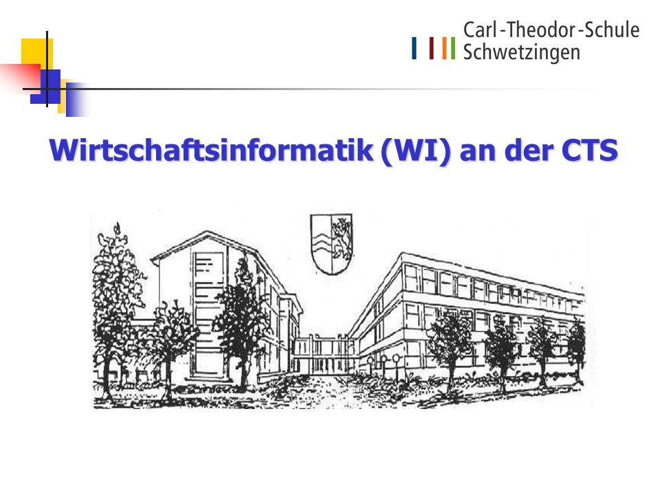 Wirtschaftsinformatik (WI) an der CTS Wirtschaftsinformatik (WI) an der CTS
