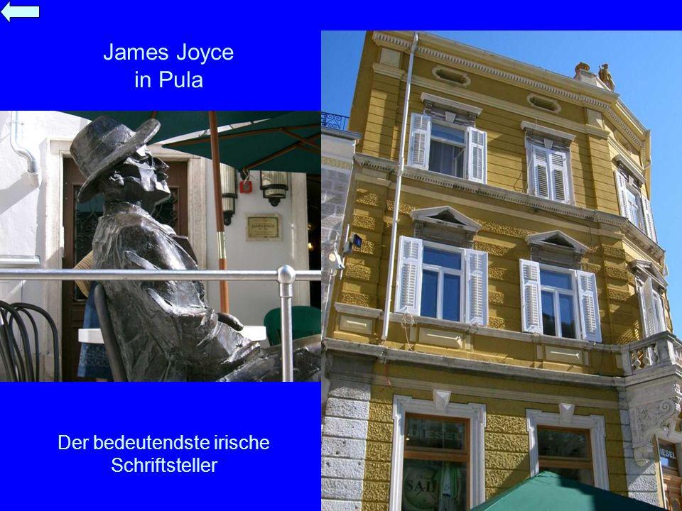 James Joyce in Pula Der bedeutendste irische Schriftsteller