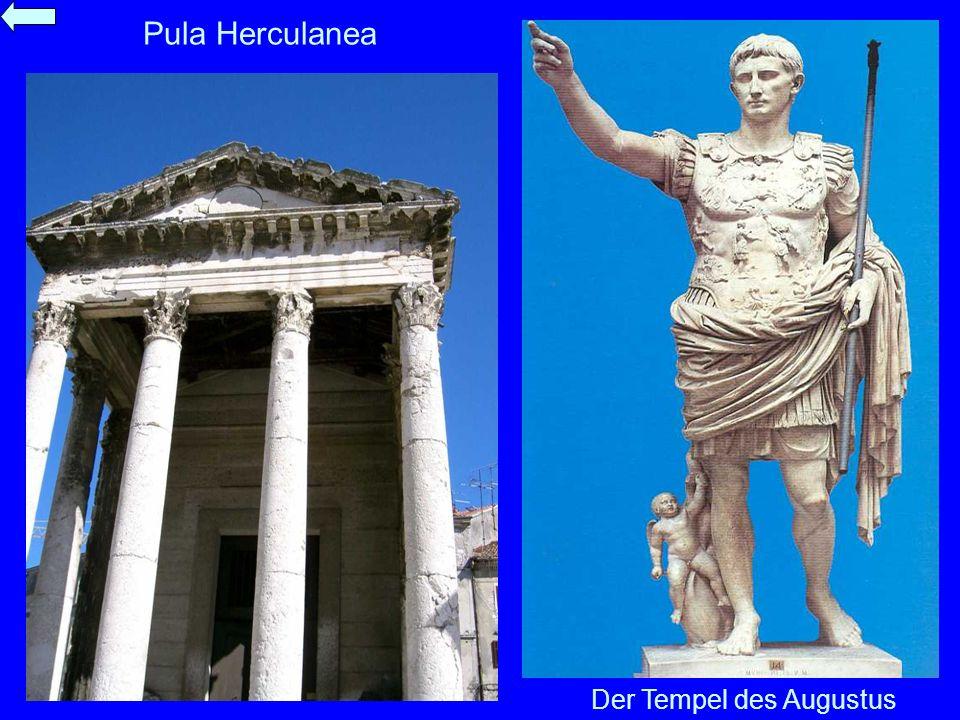 Pula Herculanea Der Tempel des Augustus