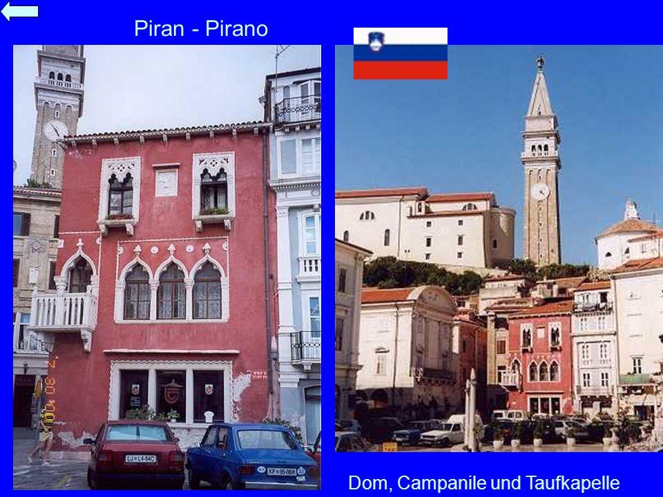 Piran - Pirano Dom, Campanile und Taufkapelle