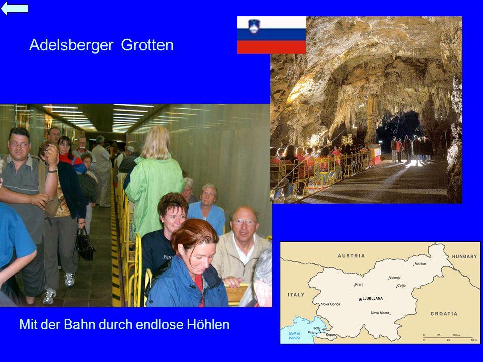 Adelsberger Grotten Mit der Bahn durch endlose Höhlen