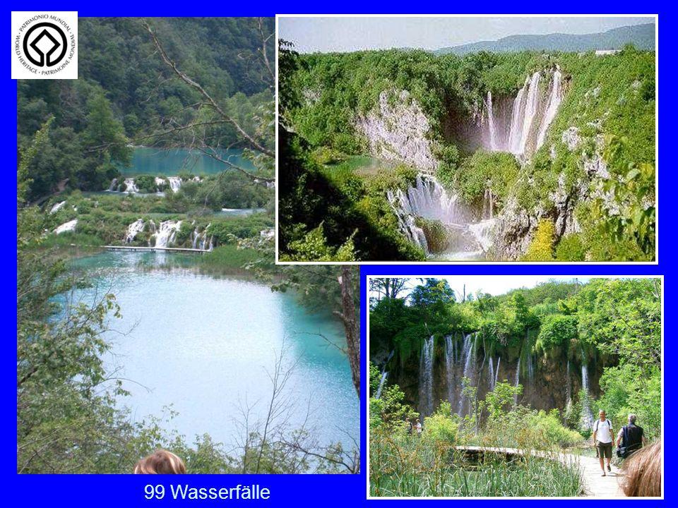 Plitwitzer Seen 99 Wasserfälle