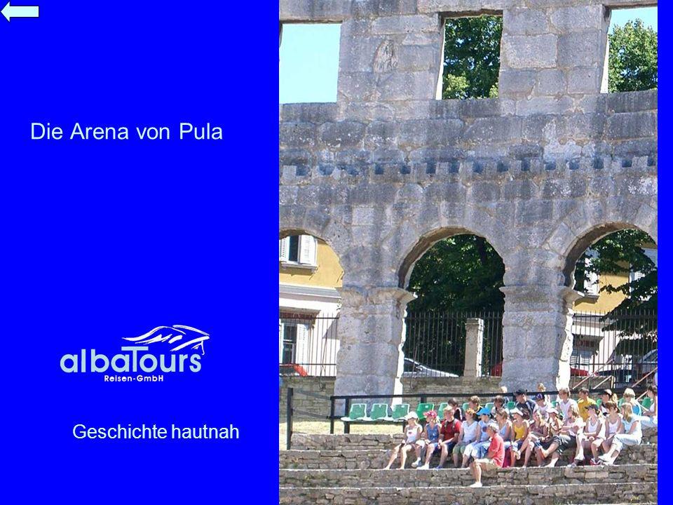 Die Arena von Pula Geschichte hautnah