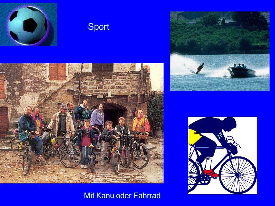 Sport Mit Kanu oder Fahrrad