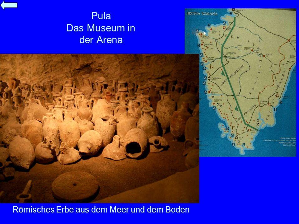 Pula Das Museum in der Arena Römisches Erbe aus dem Meer und dem Boden
