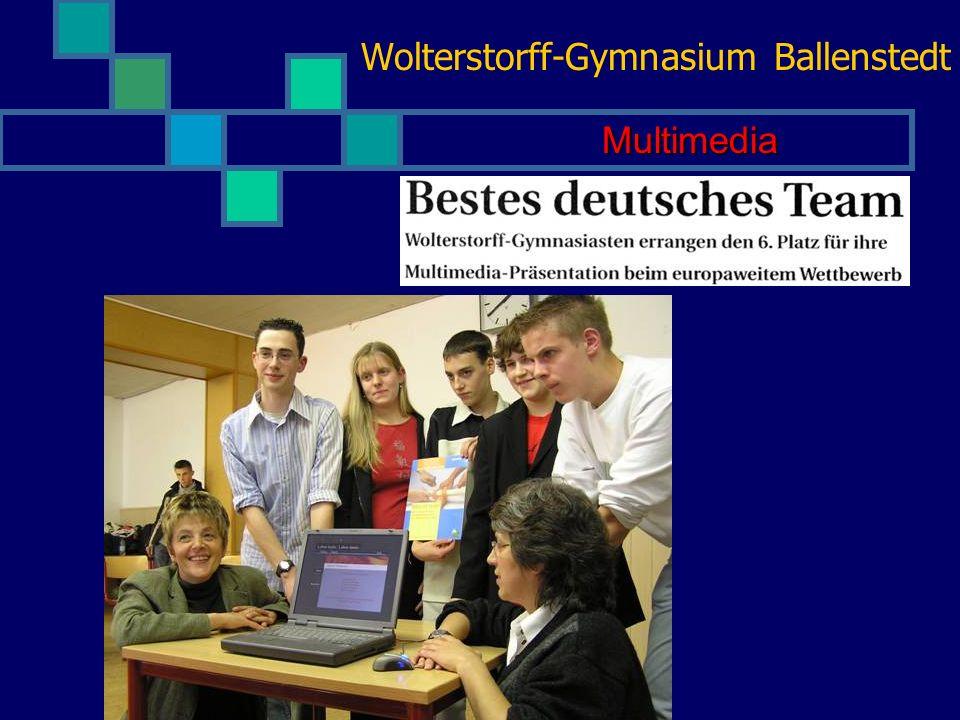 Wolterstorff-Gymnasium Ballenstedt Kultur und Kunst Die Darstellung der Internetadresse Gebäudemodelle Darstellende Kunst