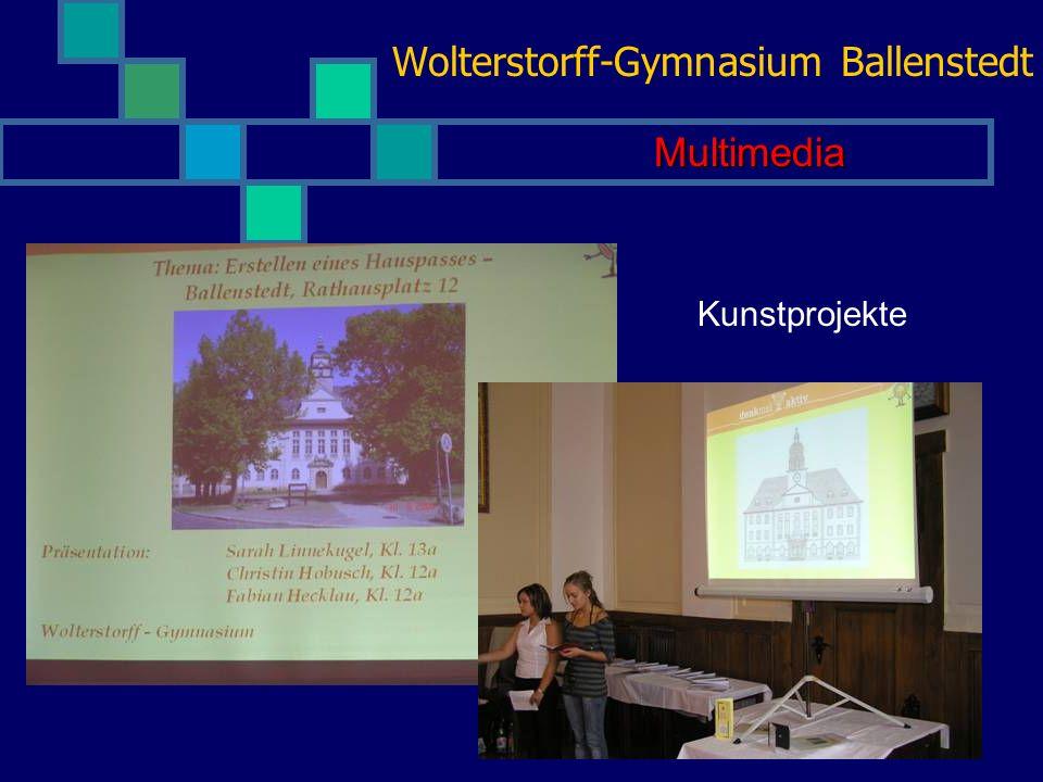 Wolterstorff-Gymnasium Ballenstedt Kunst und Kultur Unsere sehr erfolgreiche Theatergruppe bei einem ihrer zahlreichen Auftritte Theater