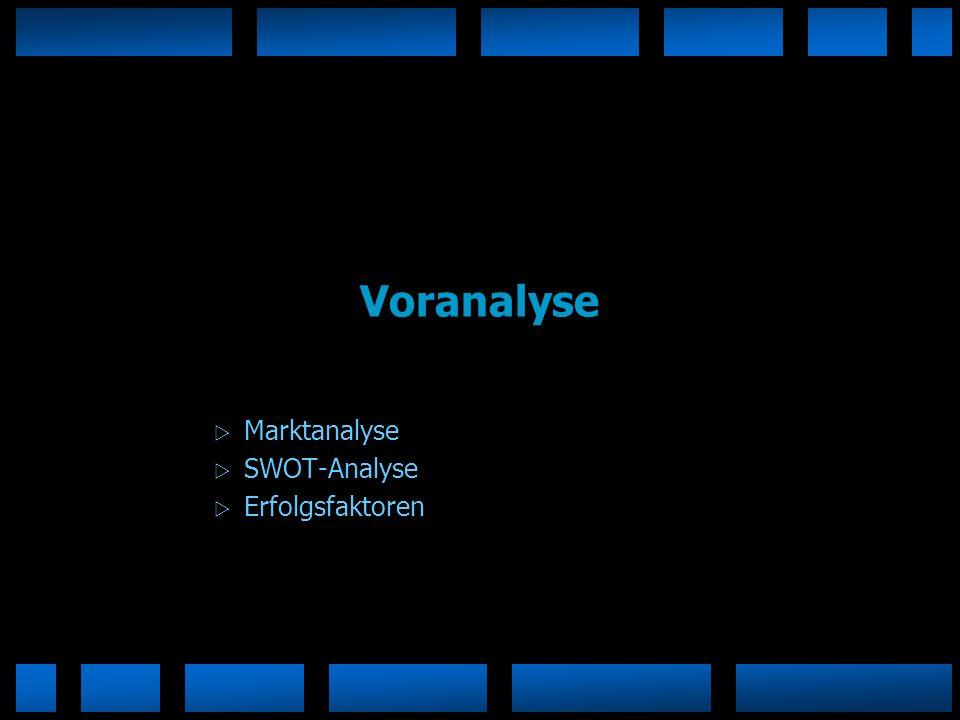 Voranalyse Marktanalyse SWOT-Analyse Erfolgsfaktoren