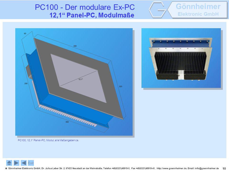 10 Gönnheimer Elektronic GmbH, Dr. Julius Leber Str. 2, 67433 Neustadt an der Weinstraße, Telefon +49(6321)49919-0, Fax +49(6321)49919-41, http://www.