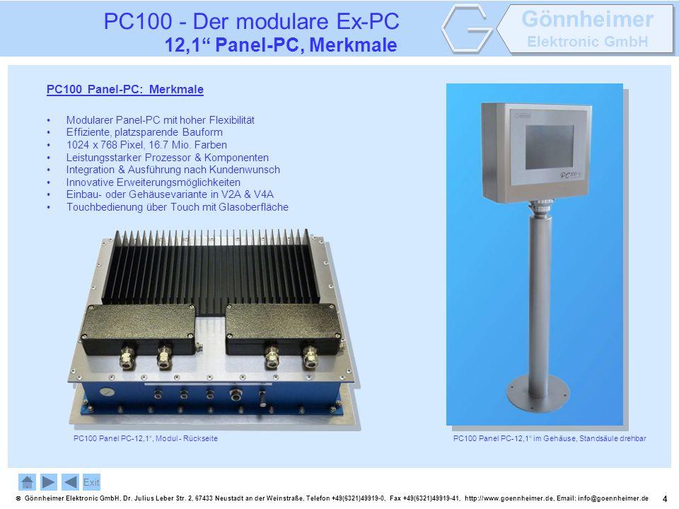 4 Gönnheimer Elektronic GmbH, Dr. Julius Leber Str. 2, 67433 Neustadt an der Weinstraße, Telefon +49(6321)49919-0, Fax +49(6321)49919-41, http://www.g