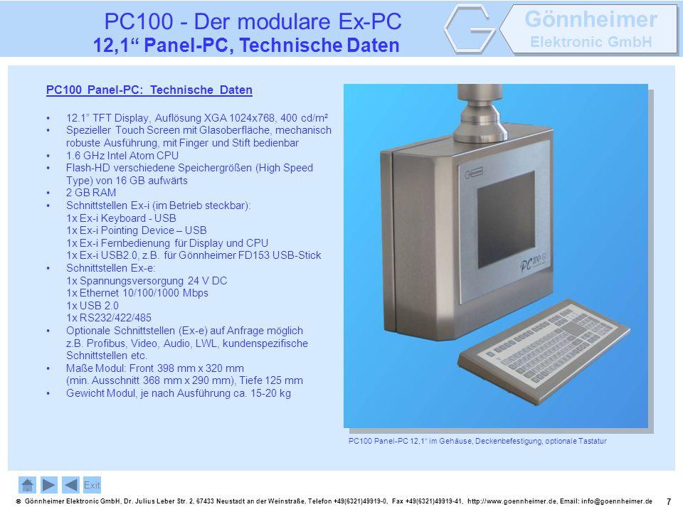 7 Gönnheimer Elektronic GmbH, Dr. Julius Leber Str. 2, 67433 Neustadt an der Weinstraße, Telefon +49(6321)49919-0, Fax +49(6321)49919-41, http://www.g