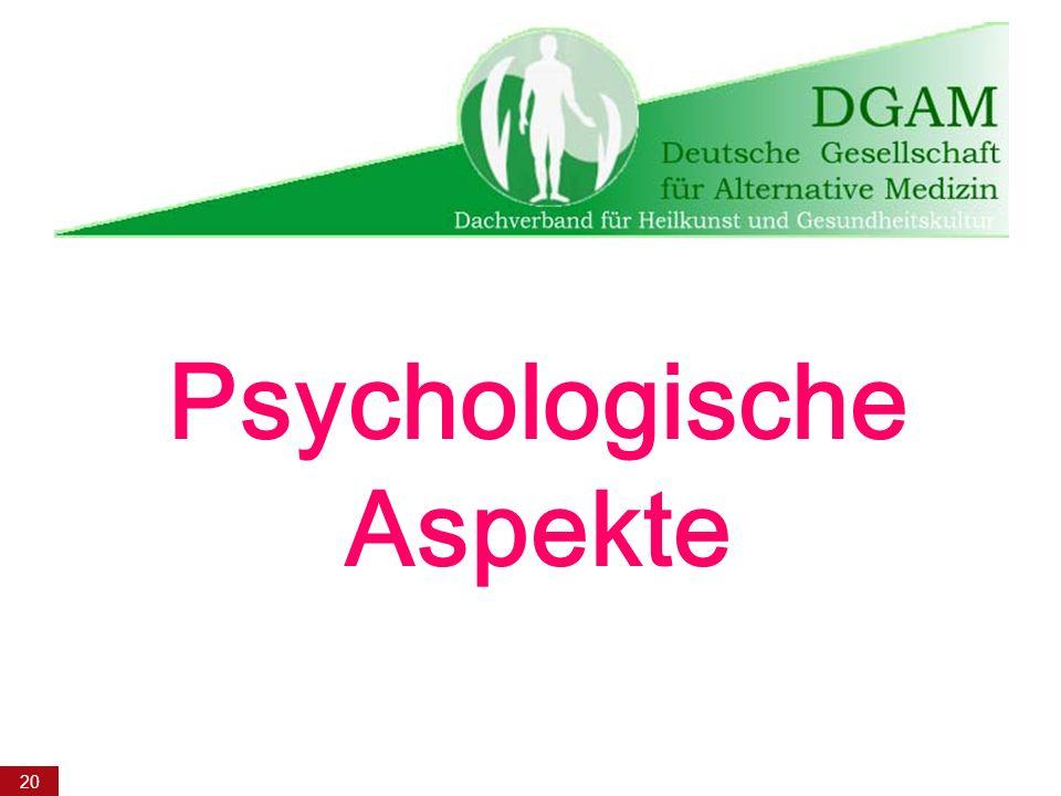 20 Psychologische Aspekte