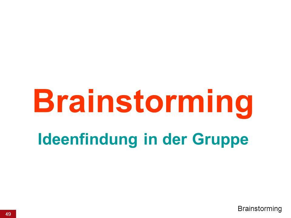 49 Brainstorming Ideenfindung in der Gruppe Brainstorming