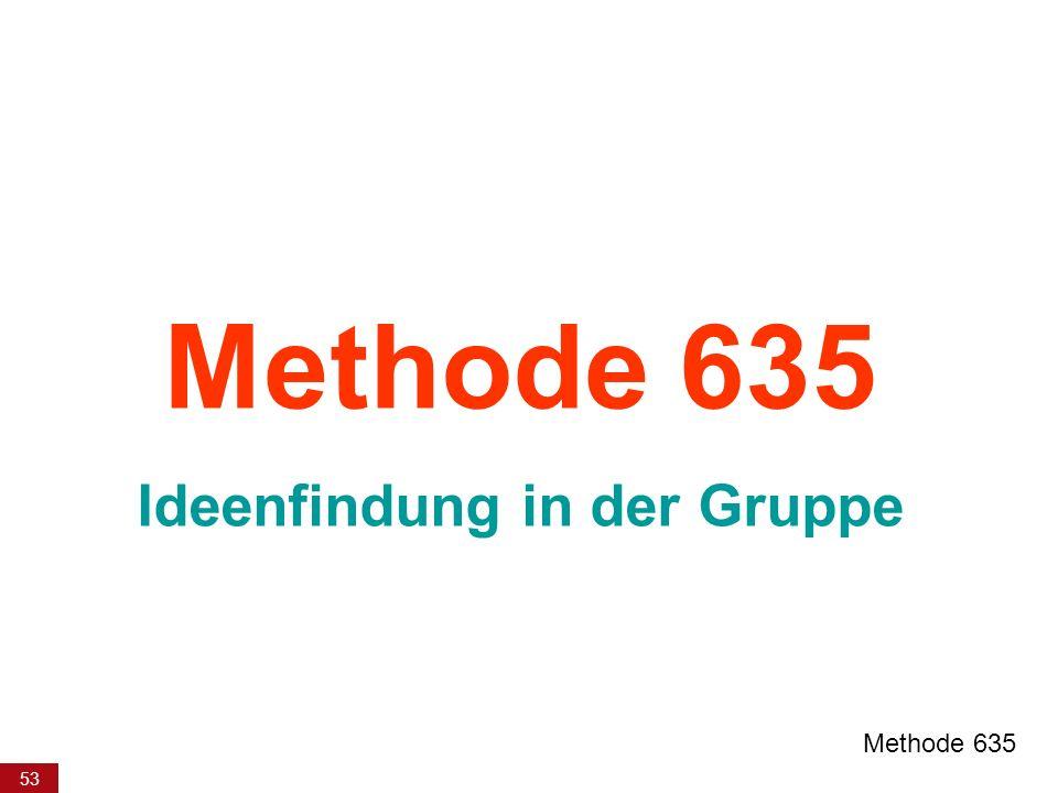 53 Methode 635 Ideenfindung in der Gruppe Methode 635