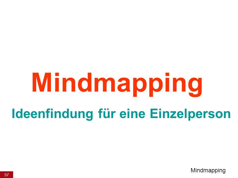 57 Mindmapping Ideenfindung für eine Einzelperson Mindmapping