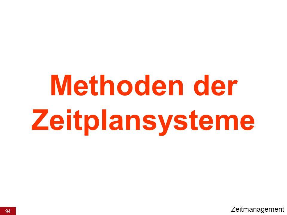 94 Methoden der Zeitplansysteme Zeitmanagement