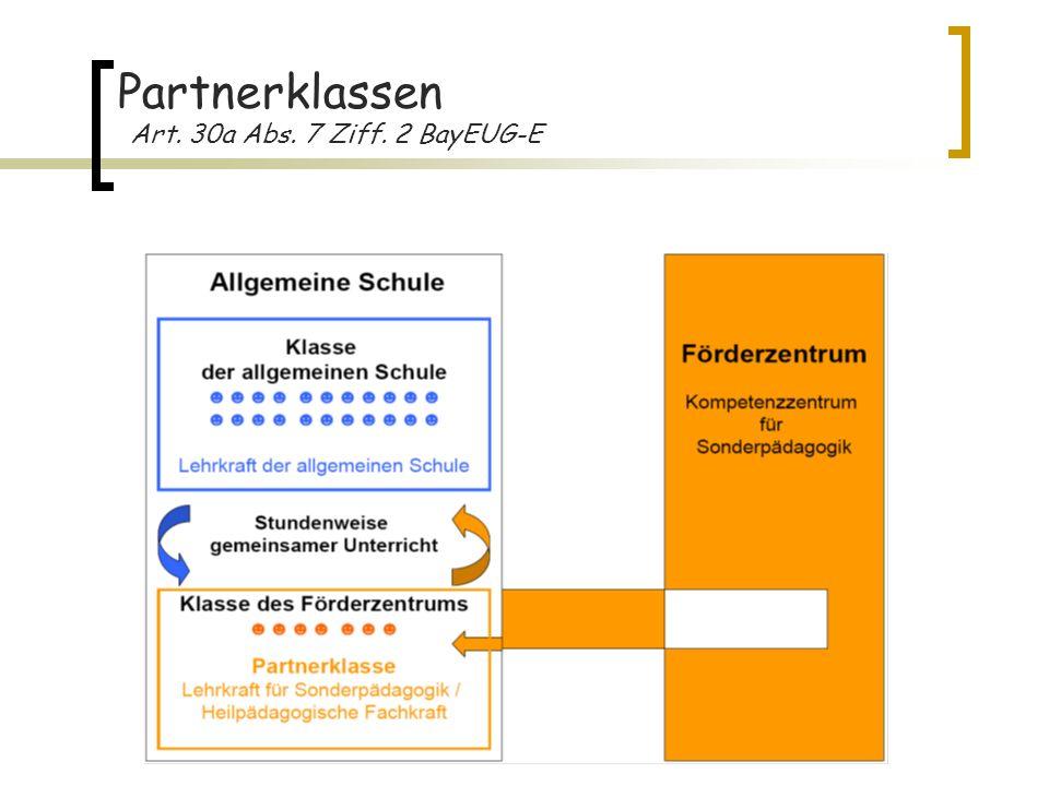 6 Partnerklassen Art. 30a Abs. 7 Ziff. 2 BayEUG-E