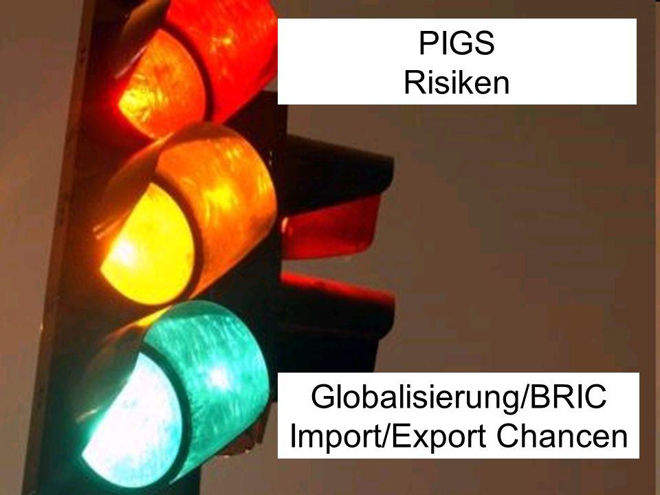 Globalisierung/BRIC Import/Export Chancen PIGS Risiken