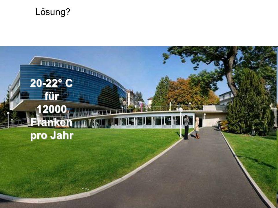Lösung 20-22° C für 12000Franken pro Jahr
