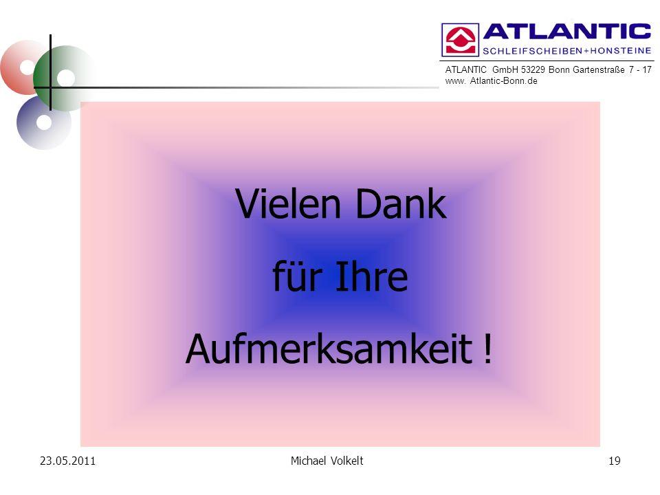 ATLANTIC GmbH 53229 Bonn Gartenstraße 7 - 17 www. Atlantic-Bonn.de 23.05.201119Michael Volkelt Vielen Dank für Ihre Aufmerksamkeit !
