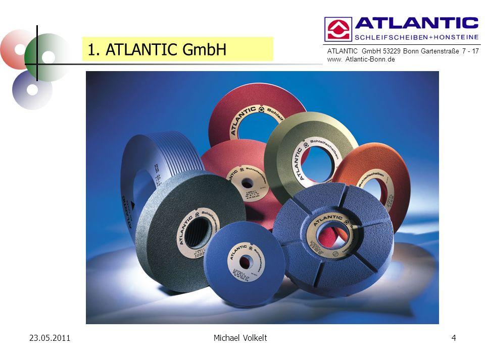 ATLANTIC GmbH 53229 Bonn Gartenstraße 7 - 17 www. Atlantic-Bonn.de 23.05.20114Michael Volkelt 1. ATLANTIC GmbH