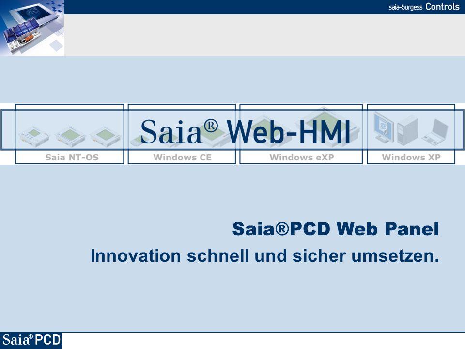 Saia®PCD Web Panel Innovation schnell und sicher umsetzen.