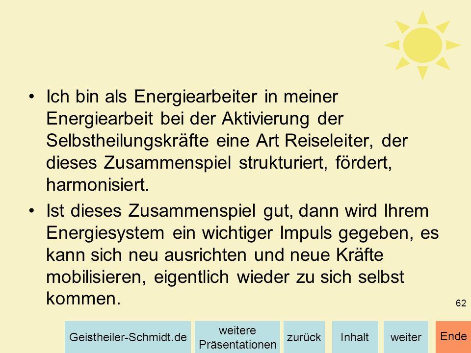 Inhaltweiterzurück weitere Präsentationen Geistheiler-Schmidt.de Ende 62 Ich bin als Energiearbeiter in meiner Energiearbeit bei der Aktivierung der S
