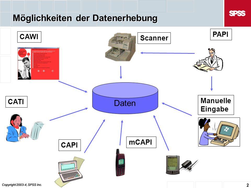 Copyright 2003-4, SPSS Inc. 23 Interview Exporter