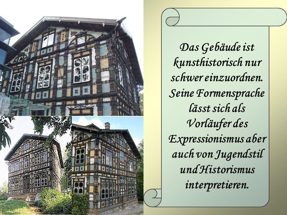 Das Gebäude ist kunsthistorisch nur schwer einzuordnen. Seine Formensprache lässt sich als Vorläufer des Expressionismus aber auch von Jugendstil und