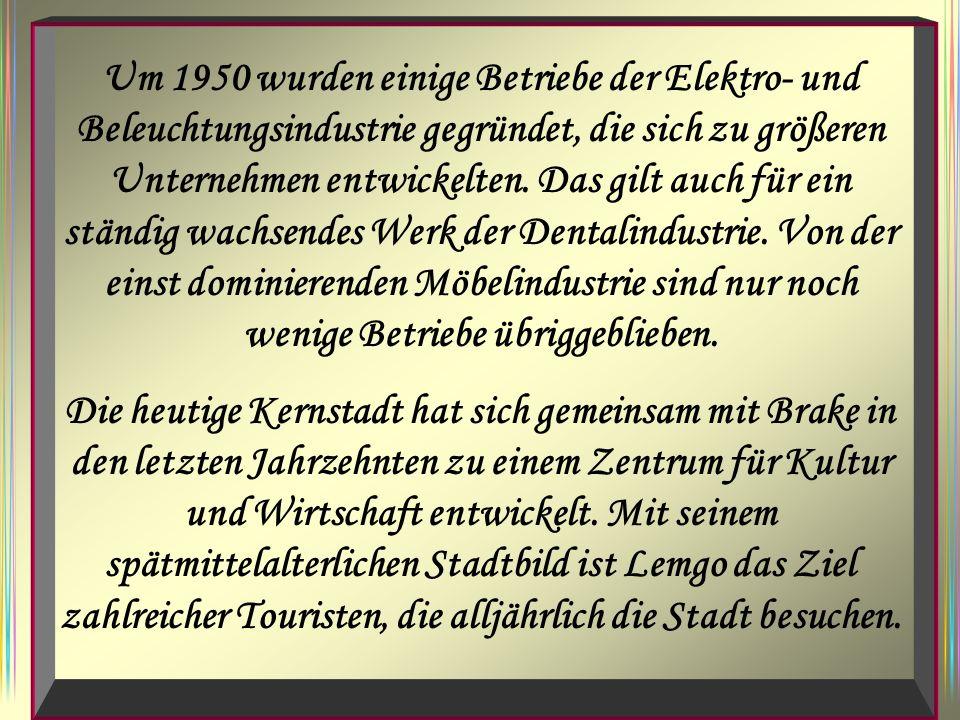 Um 1950 wurden einige Betriebe der Elektro- und Beleuchtungsindustrie gegründet, die sich zu größeren Unternehmen entwickelten.
