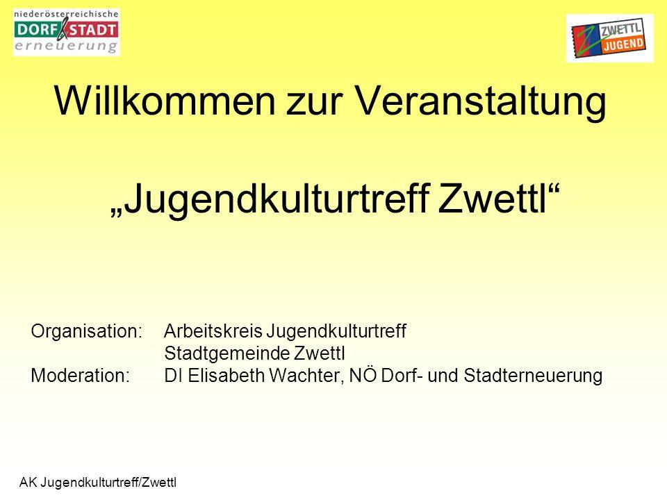AK Jugendkulturtreff/Zwettl Work Station Offener Betrieb