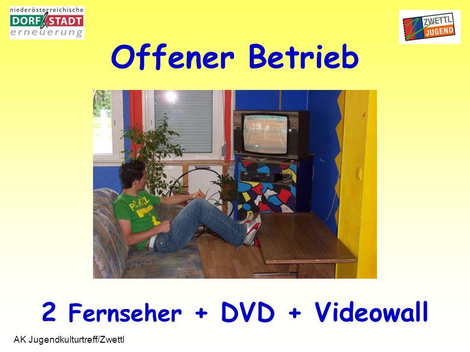 AK Jugendkulturtreff/Zwettl 2 Fernseher + DVD + Videowall Offener Betrieb