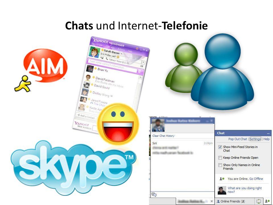 Chats und Internet-Telefonie