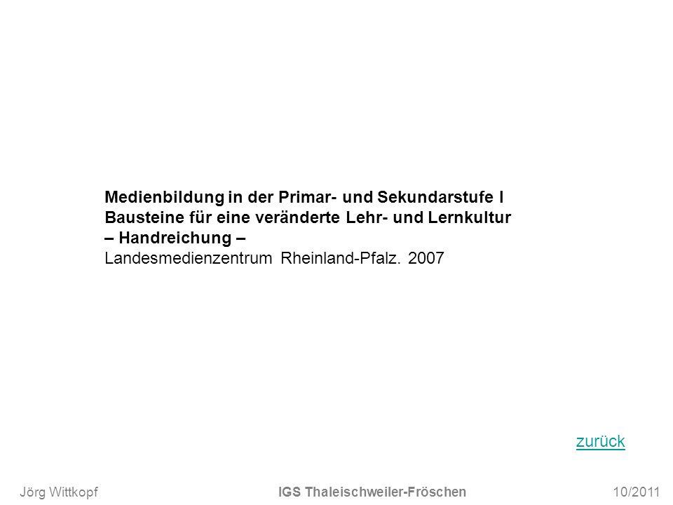 Medienbildung in der Primar- und Sekundarstufe I Bausteine für eine veränderte Lehr- und Lernkultur – Handreichung – Landesmedienzentrum Rheinland-Pfa