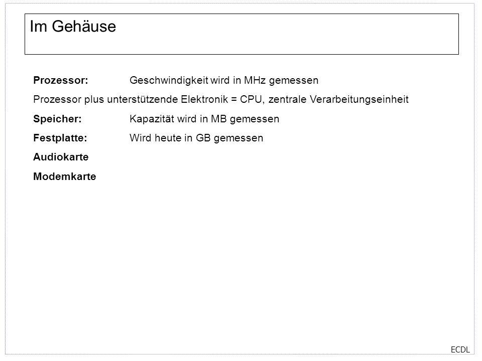 ECDL Programme Textverarbeitung Tabellenkalkulation Präsentation Datenbanken etc SystemprogrammeAnwenderprogramme Maßgeschneiderte Programme für bestimmte Benutzergruppen Betriebssysteme (Einzelplatz, Mehrplatz, Netzwerk