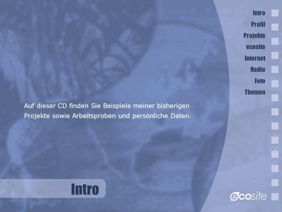 Thomas Dombeck Ginsterweg 7 89233 Neu-Ulm Intro Auf dieser CD finden Sie Beispiele meiner bisherigen Projekte sowie Arbeitsproben und persönliche Daten.
