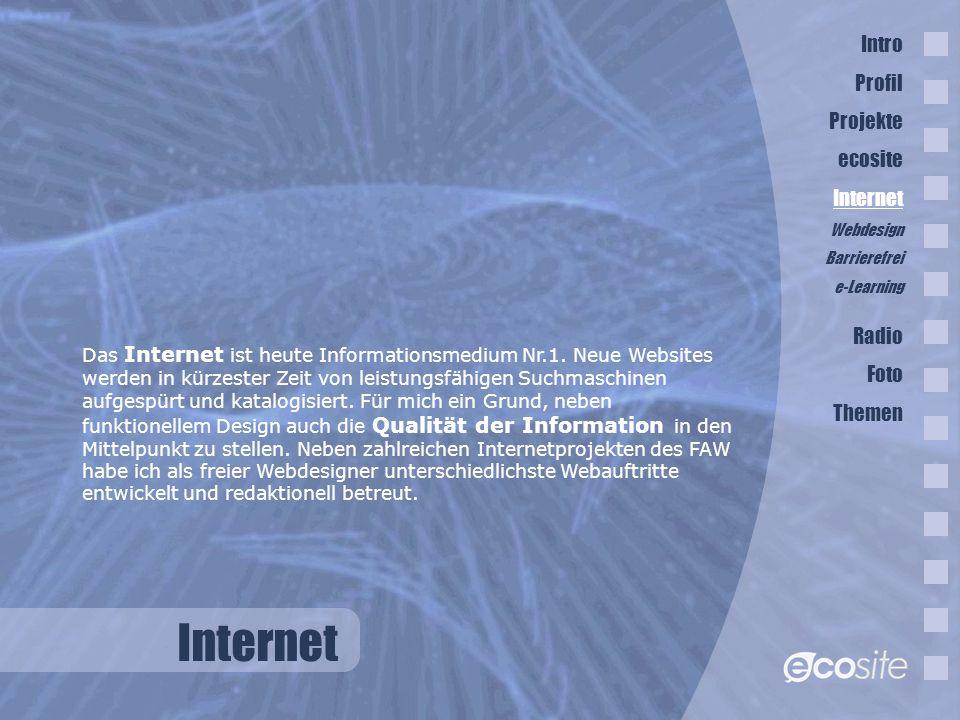 Internet Das Internet ist heute Informationsmedium Nr.1.