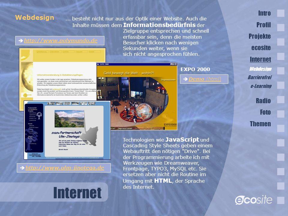 Internet Webdesign...besteht nicht nur aus der Optik einer Website.