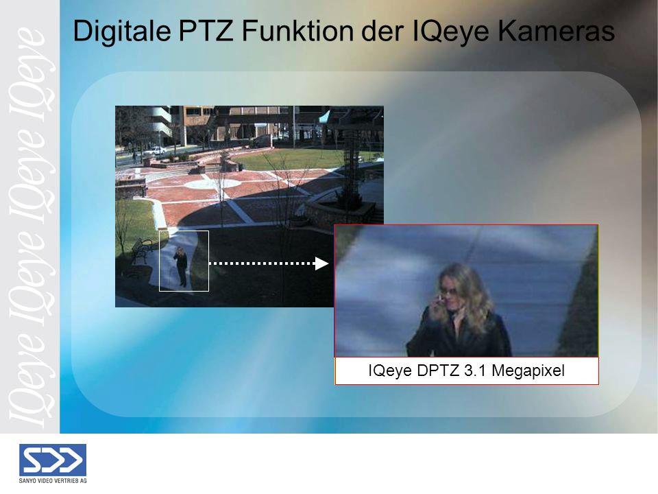 Digital zoom @ cifDigital zoom @ d1 Digitale PTZ Funktion der IQeye Kameras IQeye Zoom @ hdtvIQeye Zoom @ 2 MegapixelIQeye DPTZ 3.1 Megapixel
