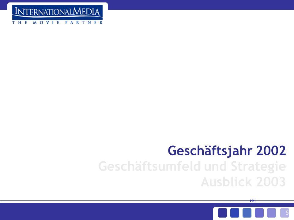 5 Geschäftsjahr 2002 Geschäftsumfeld und Strategie Ausblick 2003