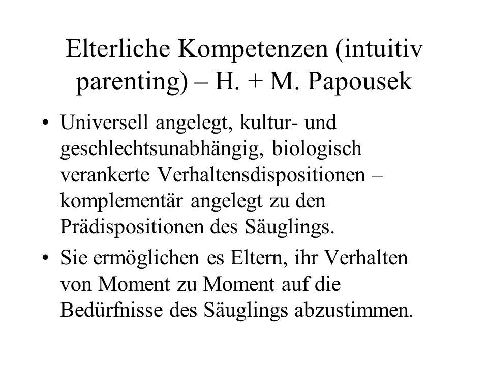 Elterliche Kompetenzen (intuitiv parenting) – H.+ M.
